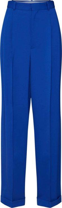 POLO RALPH LAUREN Kalhoty se sklady v pase modrá
