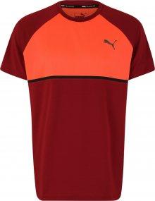 PUMA Funkční tričko oranžová / rezavě červená