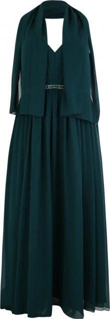 My Mascara Curves Společenské šaty \'PLEAT FRONT\' smaragdová