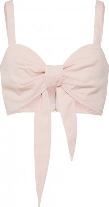 Missguided Top \'Tie Front Co Ord Bralet Pink\' pink
