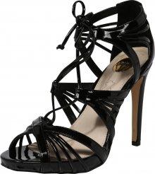 BUFFALO Páskové sandály \'ECATERINA\' černá