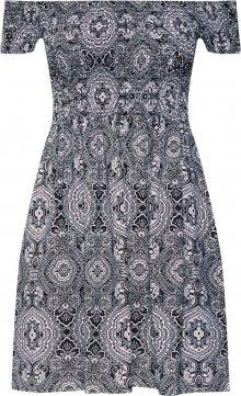 Urban Classics Šaty černá / bílá