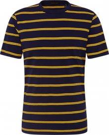 SCOTCH & SODA Tričko tmavě modrá / žlutá