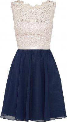 Laona Koktejlové šaty béžová / námořnická modř