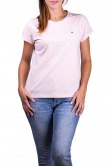 Tommy Hilfiger pudrové dámské tričko CN TEE SS - XS