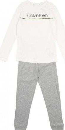 Calvin Klein Underwear Pyžamo šedý melír / bílá