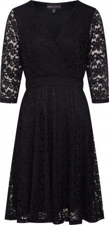 Mela London Koktejlové šaty \'DELICATE LACE LONG SLEEVE DRESS\' černá