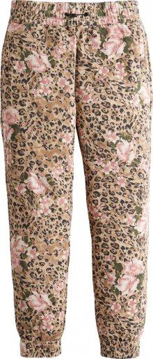 HOLLISTER Kalhoty béžová / hnědá / růžová