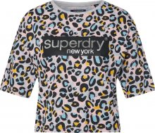 Superdry Tričko \'GRAPHIC\' šedá / mix barev