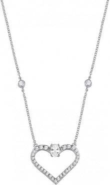 Morellato Stříbrný náhrdelník s třpytivým srdíčkem Cuori SAIV02
