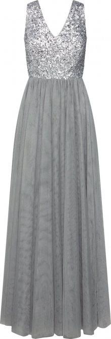 Esprit Collection Společenské šaty \'new soft tulle Dresses light woven\' šedá