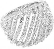 JVD Luxusní stříbrný prsten s krystaly SVLML10869F7 52 mm