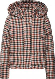 ONLY Zimní bunda \'onlSTINA CHECK SHORT JACKET OTW\' béžová / červená