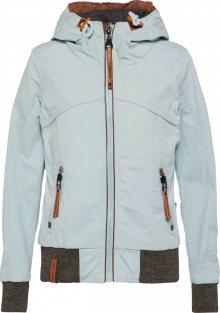 Naketano Přechodná bunda pastelová modrá / rezavě hnědá / hnědý melír