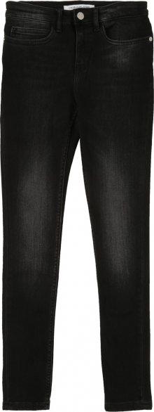 Calvin Klein Jeans Džíny \'SKINNY HR WORN BLACK\' černá džínovina