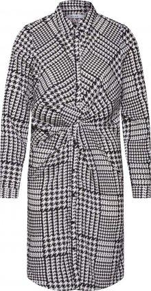 NA-KD Šaty \'Twist Detail\' černá / bílá