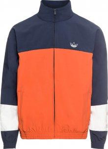 ADIDAS ORIGINALS Přechodná bunda \'BLOCKED WARM UP\' tmavě modrá / oranžová
