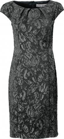 Heine Koktejlové šaty stříbrně šedá / černá