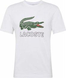 LACOSTE Tričko zelená / bílá