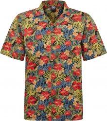 Urban Classics Košile \'Pattern Resort Shirt\' zelená / červená / černá
