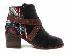 Desigual černé kotníkové boty Shoes Alaska Tapestry - 37