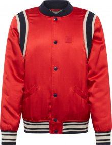 SCOTCH & SODA Přechodná bunda \'Brutus Ams Blauw colab\' červená / černá / bílá