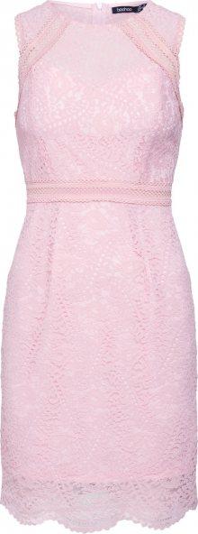 Boohoo Koktejlové šaty pink