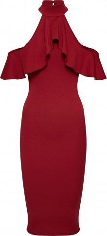 Missguided Koktejlové šaty burgundská červeň