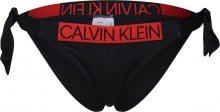 Calvin Klein Swimwear Spodní díl plavek červená / černá