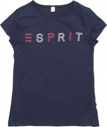 ESPRIT Tričko námořnická modř / světle červená / bílá
