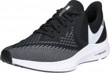 NIKE Běžecká obuv \'Nike Air Zoom Winflo 6\' černá / bílá