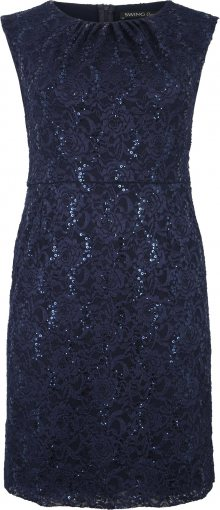 SWING Curve Koktejlové šaty námořnická modř