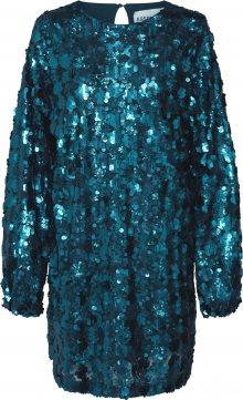 Essentiel Antwerp Koktejlové šaty \'Tiara1\' petrolejová