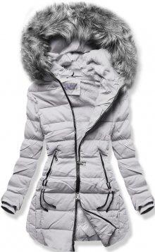 MODOVO Dámska zimní bunda B9501 šedá