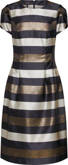 APART Koktejlové šaty krémová / zlatá / černá