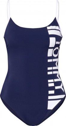 Tommy Hilfiger Underwear Plavky \'ONE-PIECE\' tmavě modrá / přírodní bílá