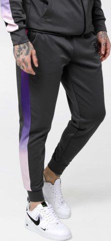 SikSilk Kalhoty tmavě zelená / svítivě růžová