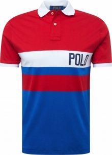 POLO RALPH LAUREN Tričko \'SOFT TOUCH\' modrá / červená / bílá