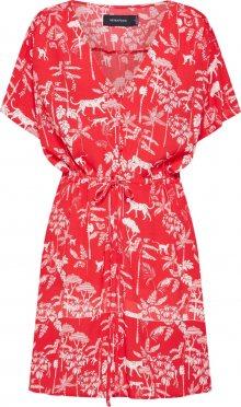 MINKPINK Letní šaty \'SAHARA BREEZE\' červená / bílá