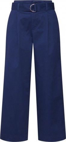 GAP Kalhoty se sklady v pase \'V-HI-RISE BELTED WIDE LEG\' námořnická modř