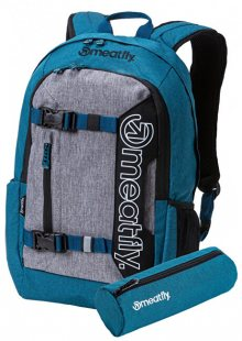 Meatfly Batoh Basejumper 5 E-Heather Petrol, Heather Grey