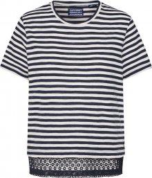 Superdry Tričko námořnická modř / bílá