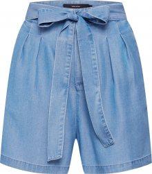 VERO MODA Kalhoty se sklady v pase \'Vmmia\' modrá džínovina