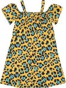 KIDS ONLY Šaty modrá / žlutá / hořčicová