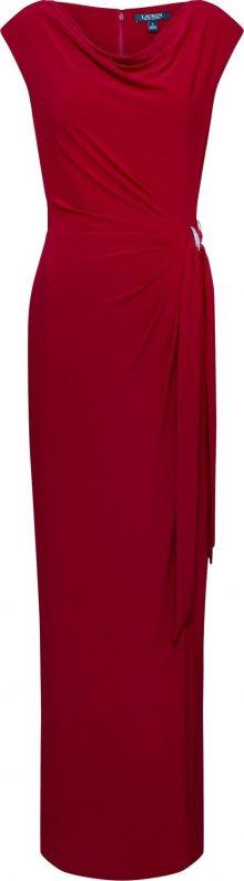 Lauren Ralph Lauren Společenské šaty \'SHAYLA\' karmínově červené