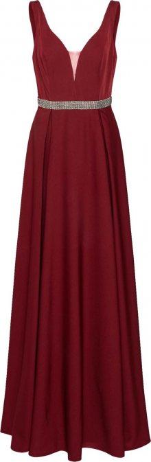 Mascara Společenské šaty \'BELTED GOWN\' vínově červená