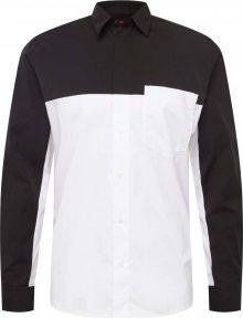 HUGO Košile \'Eamos\' černá / bílá