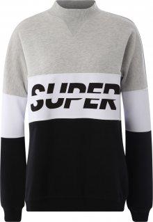 Superdry Sportovní mikina \'SPORT PUSHER CREW\' černá / barva vaječné skořápky