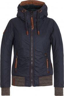 Naketano Zimní bunda tmavě modrá / brokátová