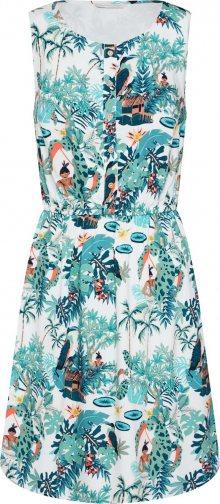 TOM TAILOR DENIM Letní šaty mix barev / offwhite